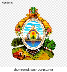 Symbol of Honduras. National emblem