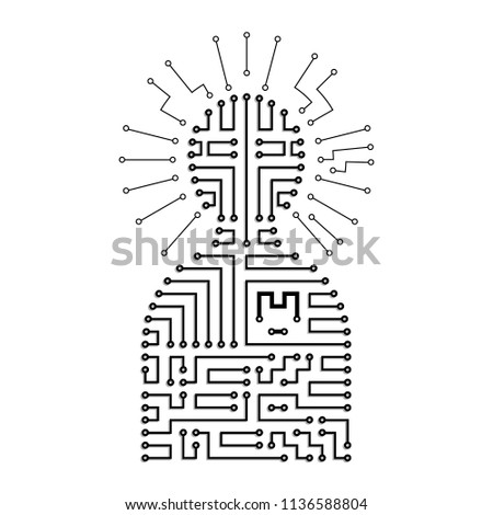 symbol human circuit board stock vector (royalty free) 1136588804symbol of human circuit board