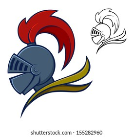 Symbol or icon of a knight in armor, vector illustration