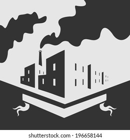 Symbol of industrial buildings of the modern city