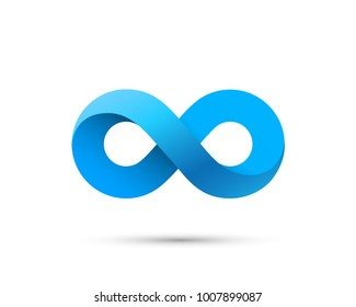 Symbol of infinity art info. Vector Illustration