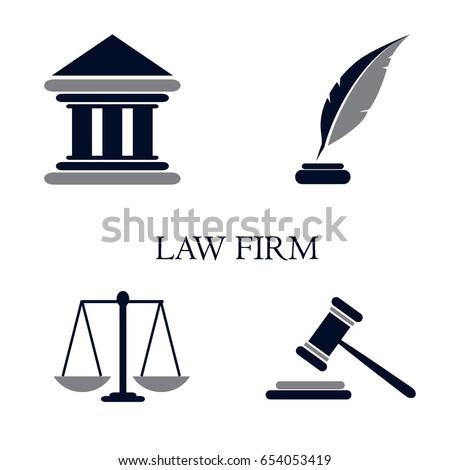 Symbol Law Justice Conceptual Law Justice Stock Vector Royalty Free