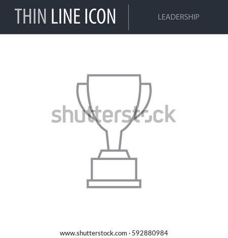 Symbol Leadership Thin Line Icon Symbols Stock Vector Royalty Free