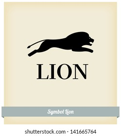 The symbol of a lion jump