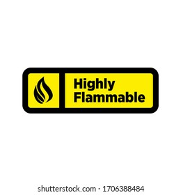 Symbol and logo about warning of highly flammable material template design