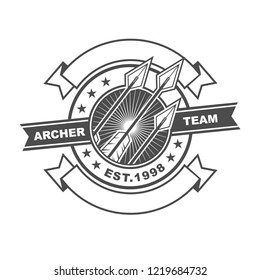 Symbol or Logo Template Design with Archery Theme