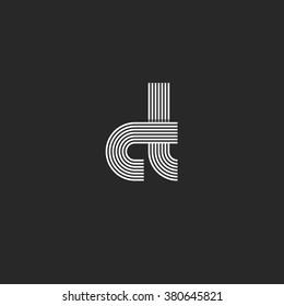 Symbol mockup letters CT logo monogram, C combination T thin line overlapping style, modern design element business card emblem