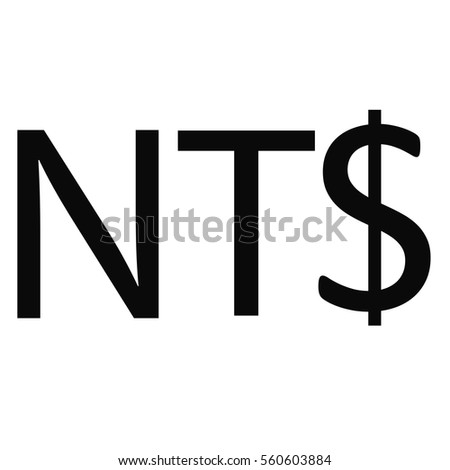 Symbol Money Sign New Taiwan Dollar Stock Vector Royalty Free