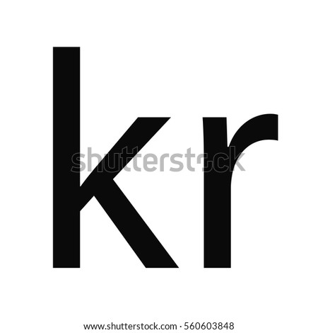 Symbol Money Sign Norwegian Krone Icon Stock Vector Royalty Free