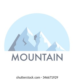 Symbol of mountains in modern flat style.