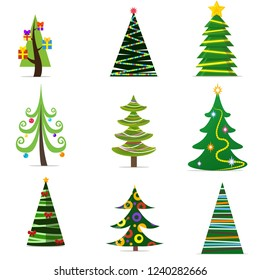 The symbol of the new year is a large green Christmas tree with a big star on its top dressed up in various beautiful decorations with boxes of gifts nearby.