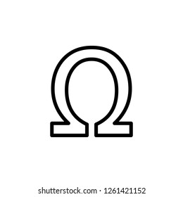 symbol, ohm sign icon. Can be used for web, logo, mobile app, UI, UX