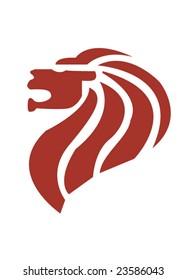 Symbol os Singapore, the lion head