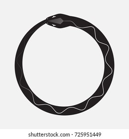 The symbol of Ouroboros snake, vector illustration