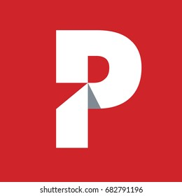 Symbol P elegant simple and modern style