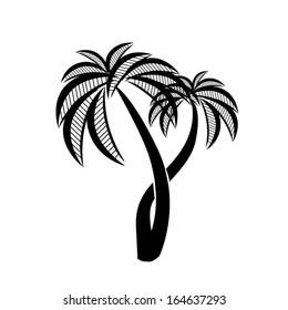 symbol palm. Vector