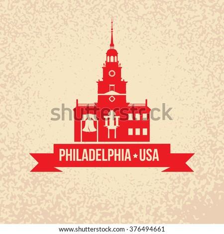 Symbol Philadelphia Usa Liberty Bell Iconic Stock Vector Royalty