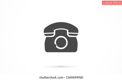 Symbol of phone call icon. Symbol of phone call icon in trendy flat style isolated on grey background. Handset icon with waves. Symbol of phone call icon symbol for your design, logo,