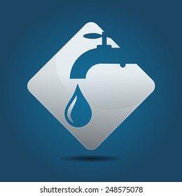 Symbol for a plumbing business, vector