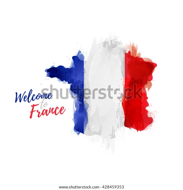 Map Of France Poster.Symbol Poster Banner France Map France Stock Vector Royalty Free