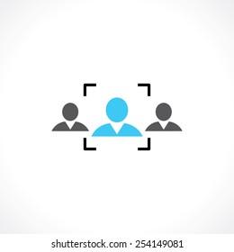 symbol of recruitment people