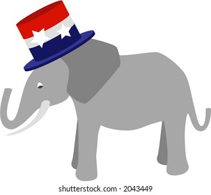 Symbol of the Republic Party (USA) fully editable vector drawing.