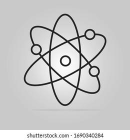 Symbol of science Atom icon. Vector illustration eps.10