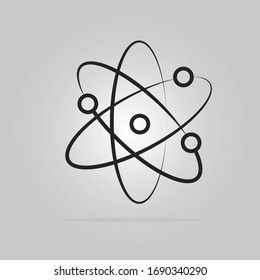 Symbol of science Atom icon. Vector illustration eps.10