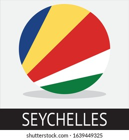 symbol of the Seychelles country flag with a white background