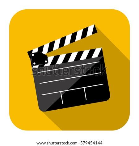 symbol short film icon image vector のベクター画像素材