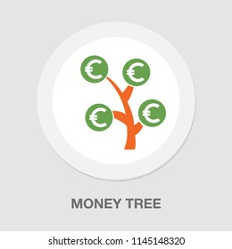 symbol of successful business, money tree. financial income business concept isolated. money savings and growing