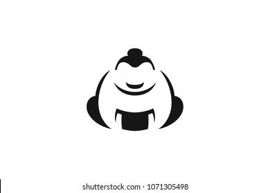 Symbol of Sumo Fighter Simple Shape Design
