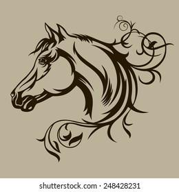 Symbol tattoo horse for design