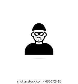 Symbol thief. Vector icon isolated on white background.