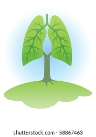 Symbol: Trees - the lungs of the planet.