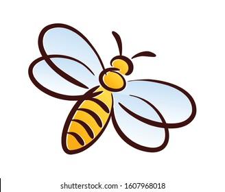 Symbol of a wild stylized bee.