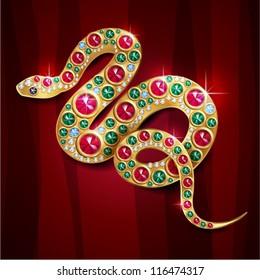 Symbol of Year 2013 Glamour Jewerly snake