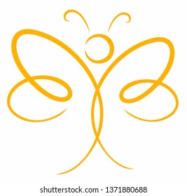 A symbol of the yellow stylized butterfly.