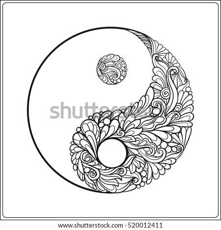 Yin Yang Symbol Coloring Pages