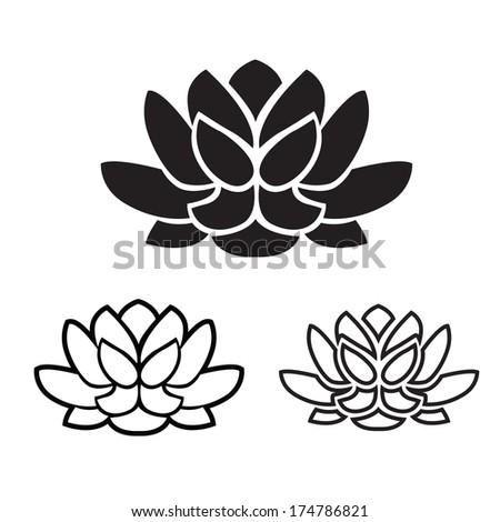 Symbol Yoga Lotus Flower Graphic Vector Stock Vector Royalty Free