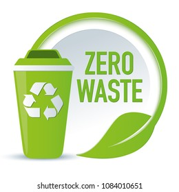 Symbol zero waste with recycling