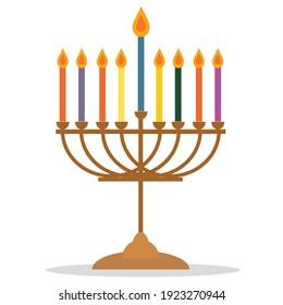 symbolic candlestick at a Jewish festival