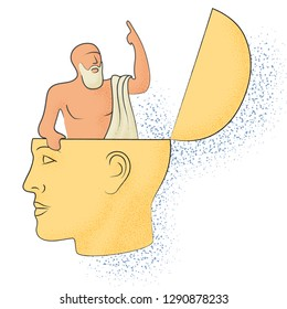 Symbolic drawing of the knowledge of philosophy