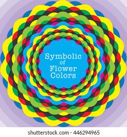 Symbolic of Flower Colors, vector illustration