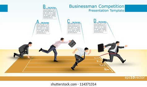 Symbolic presentation template of a business competition