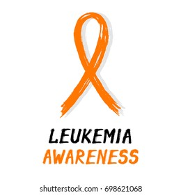 Symbolic ribbon - orange - Leukemia awareness