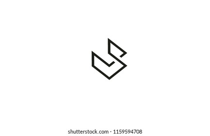 symbolic V S , multipurpose abstract shape with white background color color