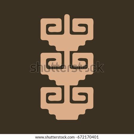 Symbols Ancestors Latin American Cultures Stock Vector Royalty Free