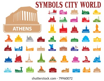 Symbols city world. Vector illustration