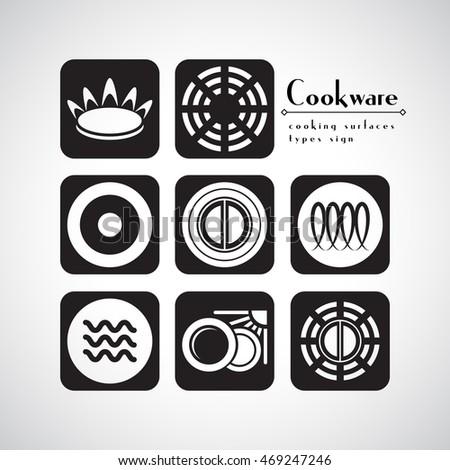 Symbols Food Grade Metal Indicate Destination Stock-Vektorgrafik ...